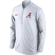 Nike Men's Alabama Crimson Tide Lockdown White Half-Zip Performance Jacket