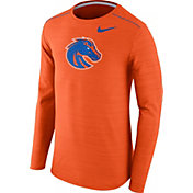 Nike Men's Boise State Broncos Orange Player Dri-FIT Touch Performance Long Sleeve Shirt