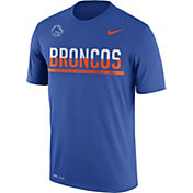 Nike Men's Boise State Broncos Blue Football Practice T-Shirt