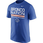 Nike Men's Boise State Broncos Blue 'Bronco Nation' Local Verbiage T-Shirt