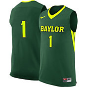 Nike Men's Baylor Bears #1 Green Replica Basketball Jersey