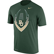 Nike Men's Baylor Bears Green Football Icon Legend T-Shirt