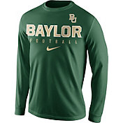 Nike Men's Baylor Bears Green Football Practice Long Sleeve Shirt