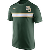 Nike Men's Baylor Bears Green Team Stripe Football T-Shirt