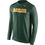 Nike Men's Baylor Bears Green Wordmark Long Sleeve Shirt