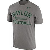 Nike Men's Baylor Bears Grey Lift Football Legend T-Shirt