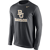 Nike Men's Baylor Bears Anthracite Logo Long Sleeve Shirt