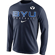 Nike Men's BYU Cougars Blue Football Practice Long Sleeve Shirt