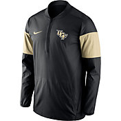 Nike Men's UCF Knights Black/Gold Lockdown Half-Zip Performance Jacket