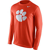 Nike Men's Clemson Tigers Orange Logo Long Sleeve Shirt