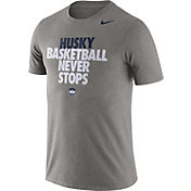Nike Men's UConn Huskies Grey Basketball Team T-Shirt