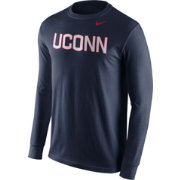 Nike Men's UConn Huskies Blue Wordmark Long Sleeve Shirt