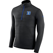 Nike Men's Duke Blue Devils Black Element Quarter-Zip Shirt