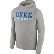 Nike Men's Duke Blue Devils Grey ELITE Basketball Performance Hoodie