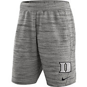 Nike Men's Duke Blue Devils Heathered Grey Fleece Basketball Shorts