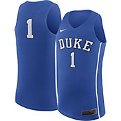 Nike Men's Duke Blue Devils #1 Duke Blue Replica ELITE Basketball Jersey