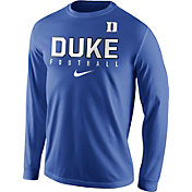 Nike Men's Duke Blue Devils Duke Blue Football Practice Long Sleeve Shirt