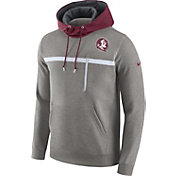 Nike Men's Florida State Seminoles Grey/Garnet Champ Drive AV15 Fleece Hoodie