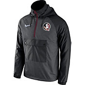 Nike Men's Florida State Seminoles Grey Anorak PO Jacket