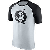 Nike Men's Florida State Seminoles Oatmeal/Black Gridiron Grey Jersey Hook T-Shirt