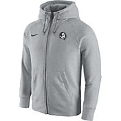 Nike Men's Florida State Seminoles Gridiron Grey 2.0 AW77 Full-Zip Hoodie