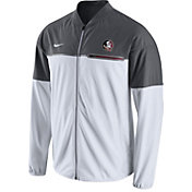 Nike Men's Florida State Seminoles White/Grey Hybrid Flash Football Jacket