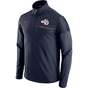 Nike Men's Gonzaga Bulldogs Blue Elite Coaches Half-Zip Shirt