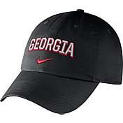 Nike Men's Georgia Bulldogs Heritage86 Black Wordmark Swoosh Flex Hat