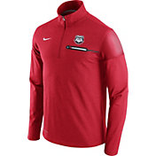 Nike Men's Georgia Bulldogs Red Elite Coaches Half-Zip Shirt