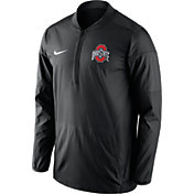 Nike Men's Ohio State Buckeyes Lockdown Black Half-Zip Performance Jacket