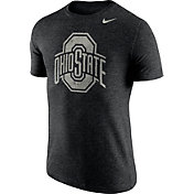 Nike Men's Ohio State Buckeyes Heathered Black Tri-Blend Stamp T-Shirt