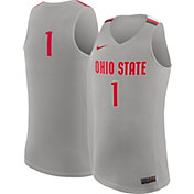 Nike Men's Ohio State Buckeyes #1 Gray Replica ELITE Basketball Jersey