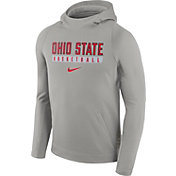 Nike Men's Ohio State Buckeyes Gray ELITE Basketball Performance Hoodie