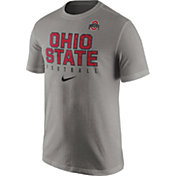 Nike Men's Ohio State Buckeyes Gray Football Practice T-Shirt