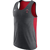 Nike Men's Ohio State Buckeyes Gray/Scarlet Dri-FIT Touch Tank Top