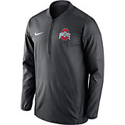 Nike Men's Ohio State Buckeyes Anthracite Lockdown Half-Zip Performance Jacket