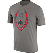 Nike Men's Ohio State Buckeyes Gray Football Icon Legend T-Shirt