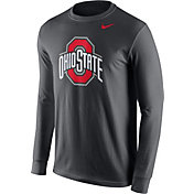 Nike Men's Ohio State Buckeyes Anthracite Logo Long Sleeve Shirt