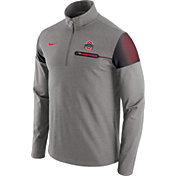 Nike Men's Ohio State Buckeyes Gray Elite Coaches Half-Zip Shirt