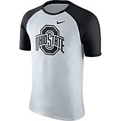 Nike Men's Ohio State Buckeyes Oatmeal/Black Gridiron Grey Jersey Hook T-Shirt