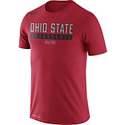 Nike Men's Ohio State Buckeyes Scarlet ELITE Basketball Practice Legend T-Shirt