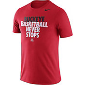 Nike Men's Ohio State Buckeyes Scarlet Basketball Team T-Shirt