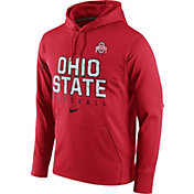 Nike Men's Ohio State Buckeyes Scarlet Circuit Performance Football Hoodie