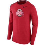 Nike Men's Ohio State Buckeyes Scarlet Player Dri-FIT Touch Performance Long Sleeve Shirt
