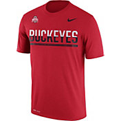 Nike Men's Ohio State Buckeyes Scarlet Legend Staff Sideline T-Shirt