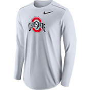 Nike Men's Ohio State Buckeyes Player White Dri-FIT Touch Performance Long Sleeve Shirt