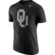 Nike Men's Oklahoma Sooners Heathered Black Tri-Blend Stamp T-Shirt