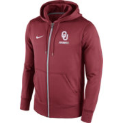 Nike Men's Oklahoma Sooners Crimson Sideline KO Fleece Full-Zip Performance Hoodie