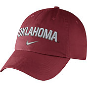 Nike Men's Oklahoma Sooners Crimson Heritage86 Wordmark Swoosh Flex Hat
