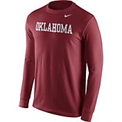 Nike Men's Oklahoma Sooners Crimson Wordmark Long Sleeve Shirt